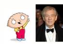 Ian McKellen cast as Stewies therapist in Family Guy