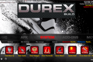 Install Durex Custom Build for Kodi